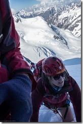 Neroli nears Maud Pass (Tramping Ice Lake Dec 2015)