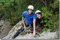 Sam and Sebas climbing (Visiting Catalonia May 2017)