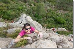Sam climbing (Visiting Catalonia May 2017)