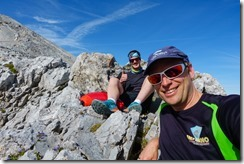 Taking a break (Watzmann Überschreitung Aug 2019)