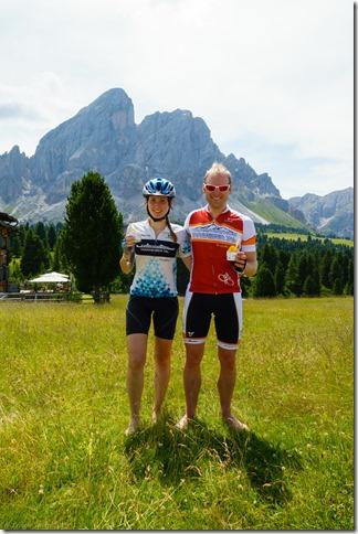 Us and ice cream (Giro delle Dolomiti 2019)
