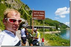 Cris at passo Fedaia (Giro delle Dolomiti 2019)