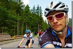 Leonie and Cris cycling (Giro delle Dolomiti 2019)