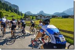 On the ascent towards Sellajoch (Giro delle Dolomiti 2019)