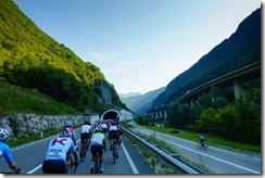 Riding to first ascent (Giro delle Dolomiti 2019)