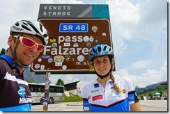 Us at Passo Falzarego (Giro delle Dolomiti 2019)