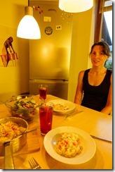 Last dinner with Leonie (Giro delle Dolomiti 2019)
