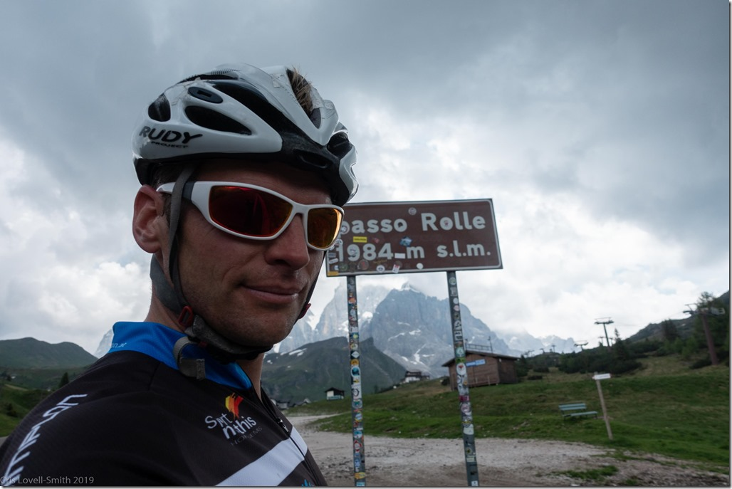 At passo Rolle (Dolomites with RIG June 2019)