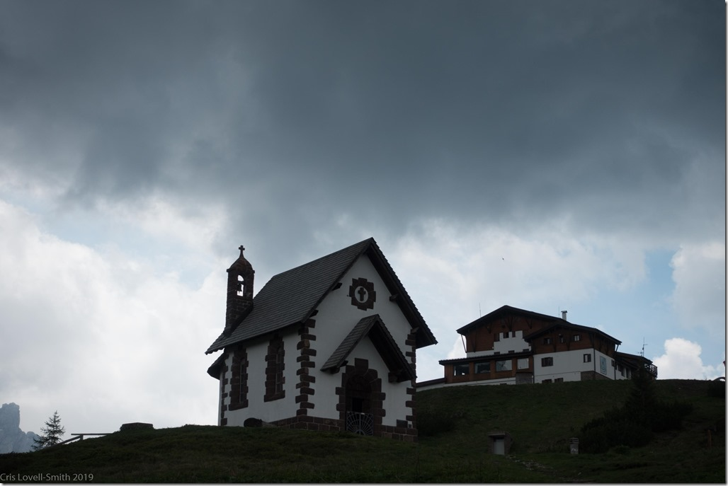 Little church and grey clouds(Dolomites with RIG June 2019)