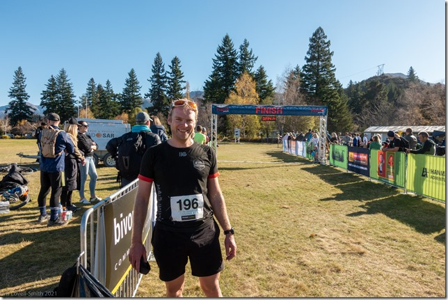 At the finish line (Mt Isobel Challenge 2021)