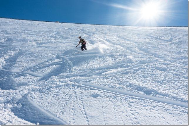 Brendan skiing (Skitouring Kuehtai March 2019)