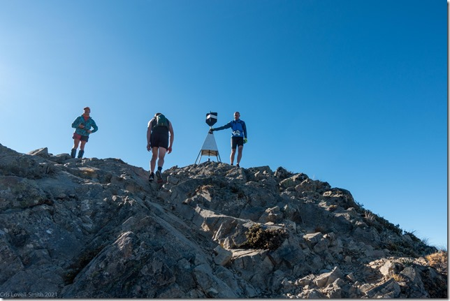 Reaching the summit (Mt Isobel Challenge 2021)