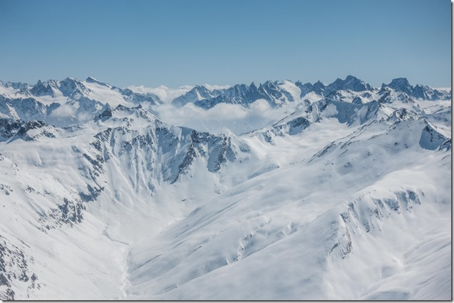 Amazing views from the summit (Ski touring Avers March 2019)