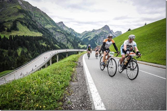 Ascending Hochtannbergpass with Markus (Highlander Radmarathon 2017)