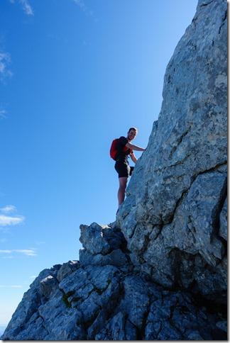 Johannes on the rock(Hochkalter Aug 2019)