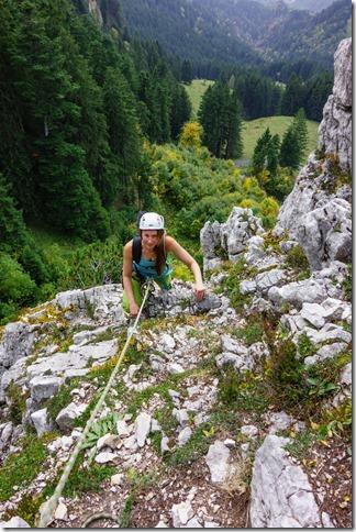 Leonie climbing (Climbing Löwenzähne Sept 2017)