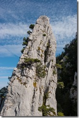 Looking up at the rock (Climbing Löwenzähne Sept 2017)