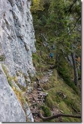 Walking to the rocks (Climbing Löwenzähne Sept 2017)