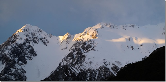 View of the mountains from the hut (Tramping Hawdon Hut Sept 2021)