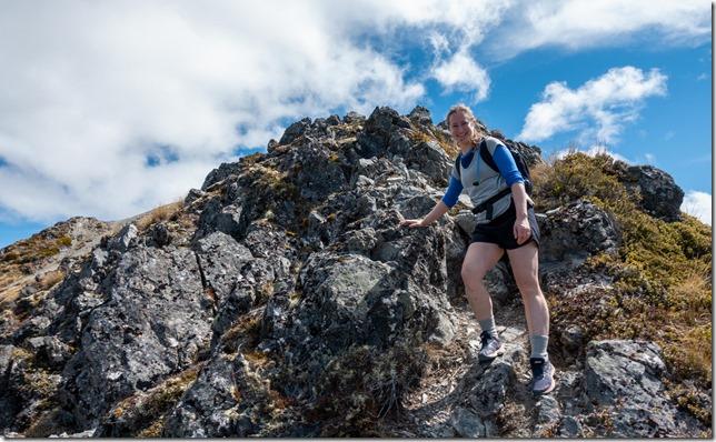 Abbie on the ridge (Camp Saddle Oct 2021)
