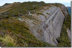 Big cliffs near the track (Mountain biking Paparoa Track Oct 2021)