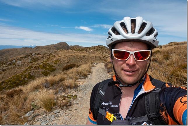 Cris on the track (Mountain biking Paparoa Track Oct 2021)