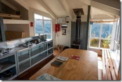 Inside the Ces Clark Hut (Mountain biking Paparoa Track Oct 2021)