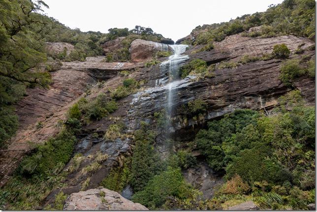 Waterfall from the bridge (Mountain biking Paparoa Track Oct 2021)